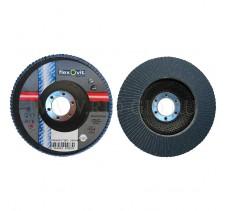 Диск лепестковый 125*22.2мм 120Z R822 Flexovit Industrial (Inox, Alu)