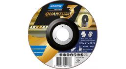 Диск зачистной 115*4.2*22.2мм BF27-NQ24R Norton QUANTUM 3 (Steel / Metal, Inox)
