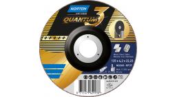 Диск зачистной 125*4.2*22.2мм BF27-NQ24R Norton QUANTUM 3 (Steel / Metal, Inox)