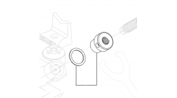 Гайка рукоятки с шайбой для тисков ВС-610/610A/810/810A <41135> RIDGID
