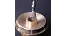 Головка прессованная полировальная 25*25*5 мм U2301 NEX 6AM BearTex NORTON средняя, оксид алюминия